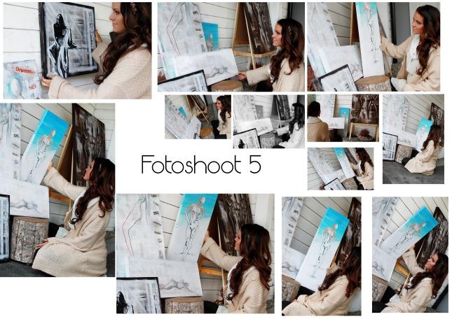 80776aee I denne bildeserien, ville jeg ha et bilde hvor hun studerer maleriene  hennes og samtidig vise hennes arbeid. Følelsene vil være fornøyd, en indre  ro, ...